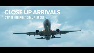 O'Hare Evening Plane Arrivals Runway 27 R   4K 60FPS