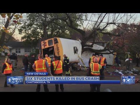 6 students dead in Chattanooga school bus crash