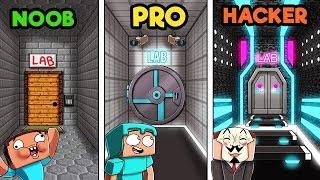 - Minecraft SECRET LABORATORY NOOB vs PRO vs HACKER