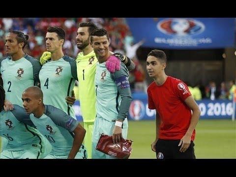 Ronaldo Selfie Strip With Ball Boy Portugal Vs Wales   Euro