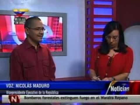 Ernesto Villegas y Nicolás Maduro anuncian en VTV la llegada de Hugo Chávez a Venezuela