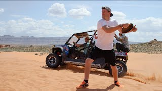 epic sand dune frisbee catch   brodie smith