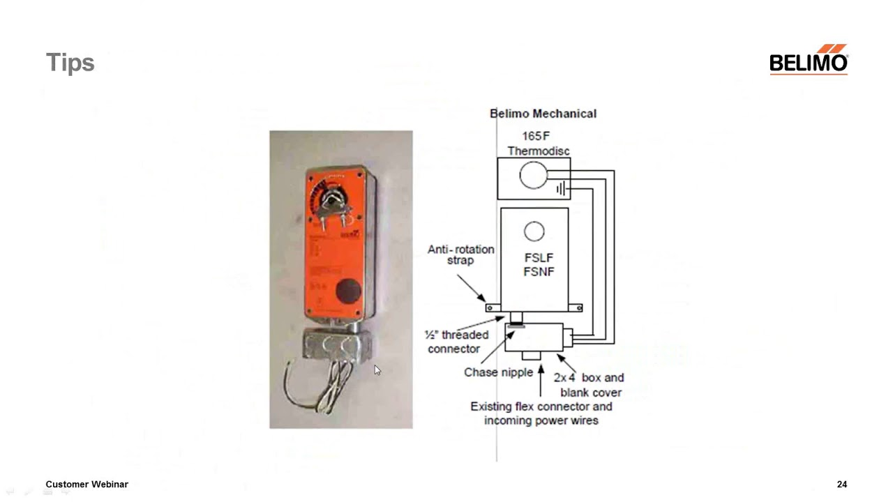 webinar belimo fire smoke damper actuator replacement instructions [ 1280 x 720 Pixel ]
