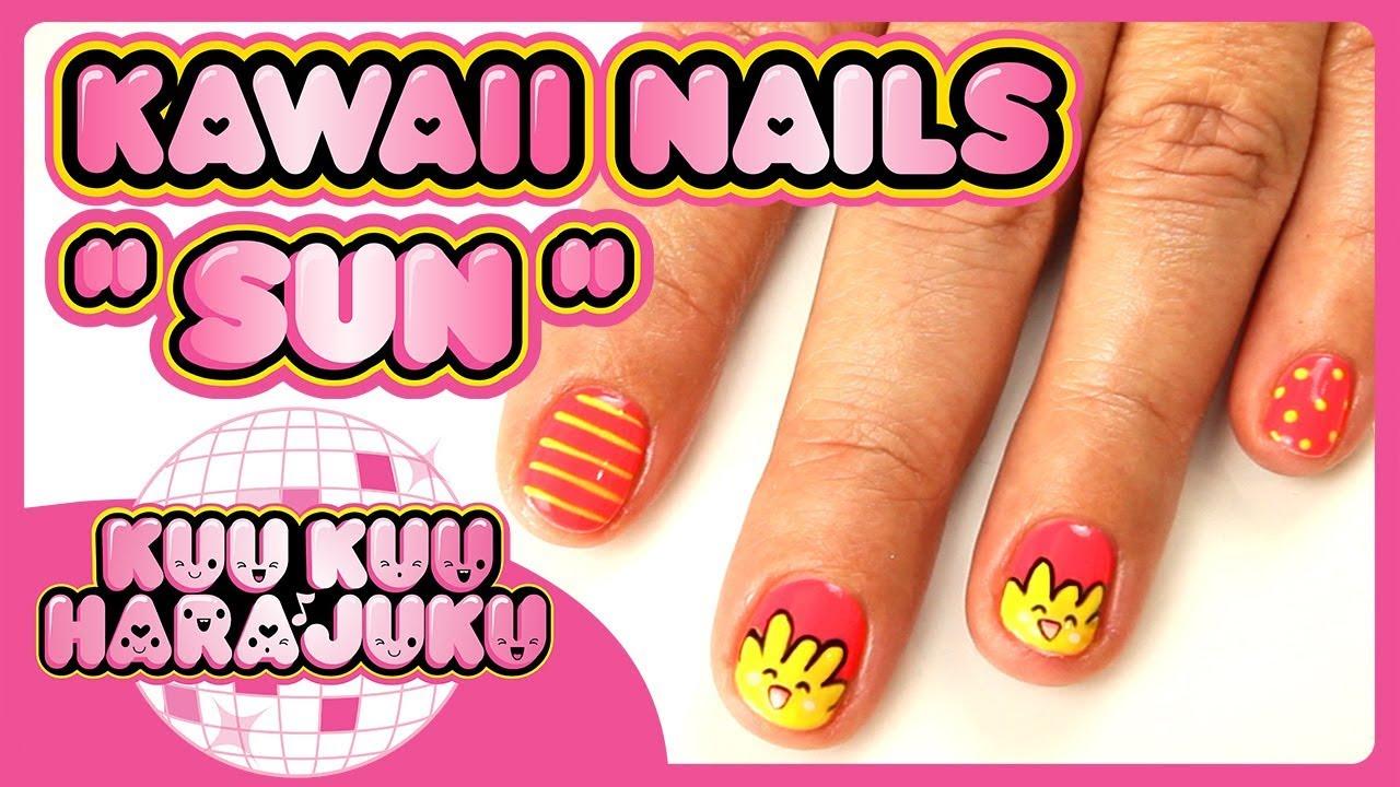 Kuu Kuu Harajuku   Sun   Kawaii Nail Art - YouTube