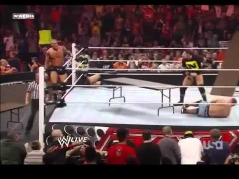 John Cena Vs Randy Orton  Vs Nexus Vs Sheamus Vs Edge Vs Y2j 5 Tables Match