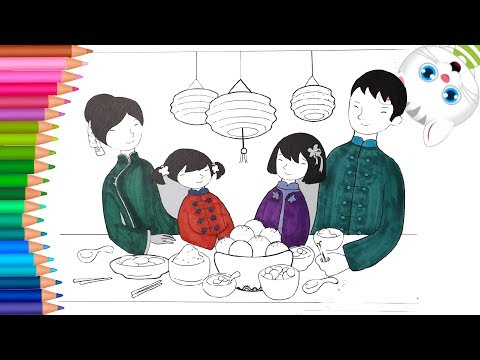 Cómo Dibujar y Colorear Familia china | Dibujos Para Niños con MiMi 😺 | Aprender Colores from YouTube · Duration:  10 minutes 47 seconds