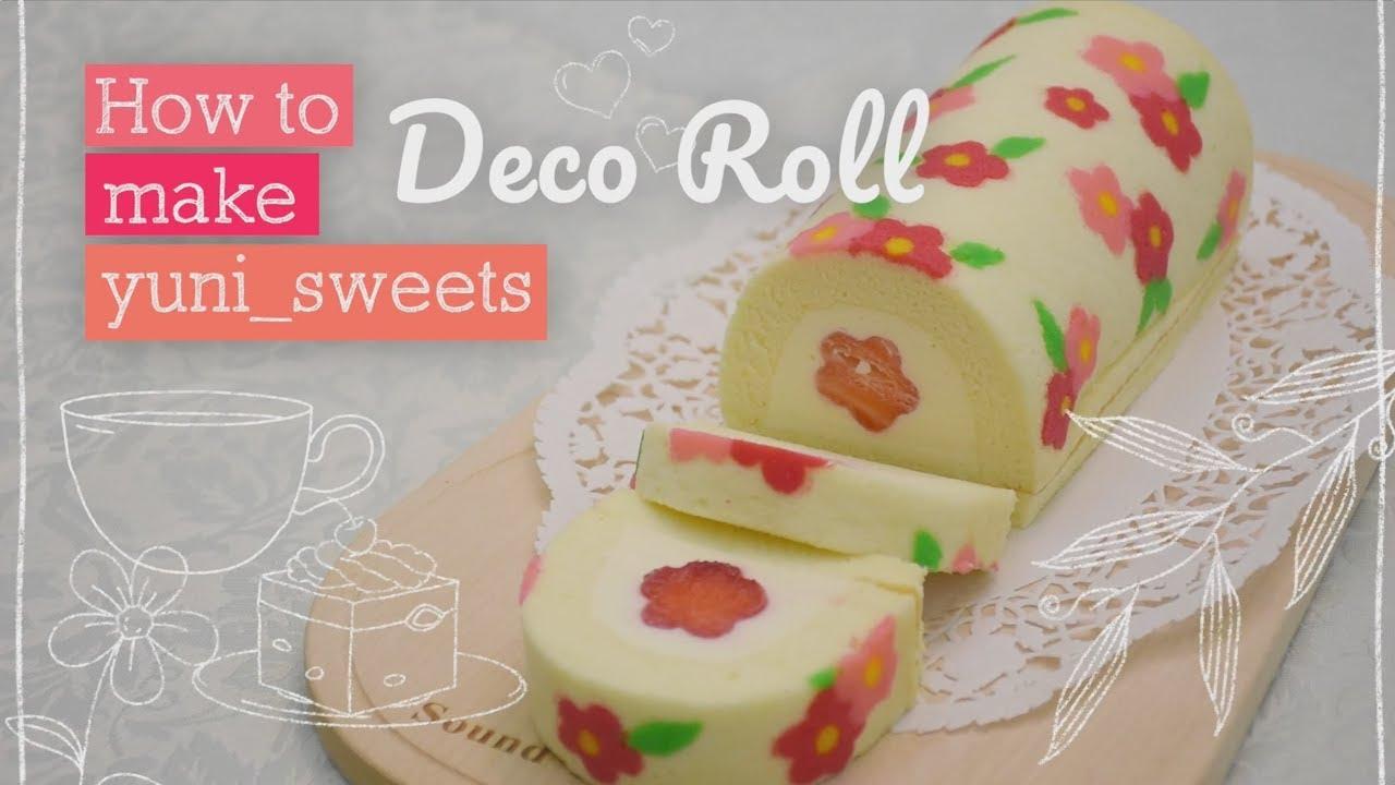 How To Make Floral Design Rollcake