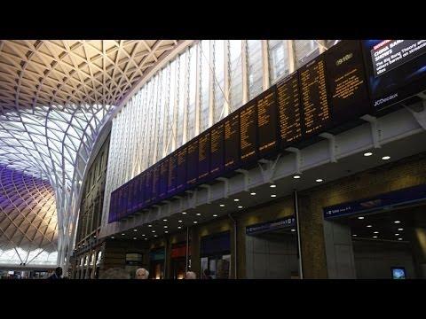 (4K)Travel to London 2014 - King's Cross railway station キングス・クロス駅