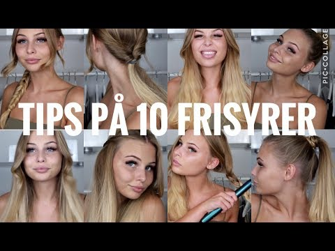 10 enkla & snabba frisyrer till skolan/jobbet