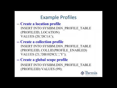 Using Db2 for z OS Profile Tables - YouTube