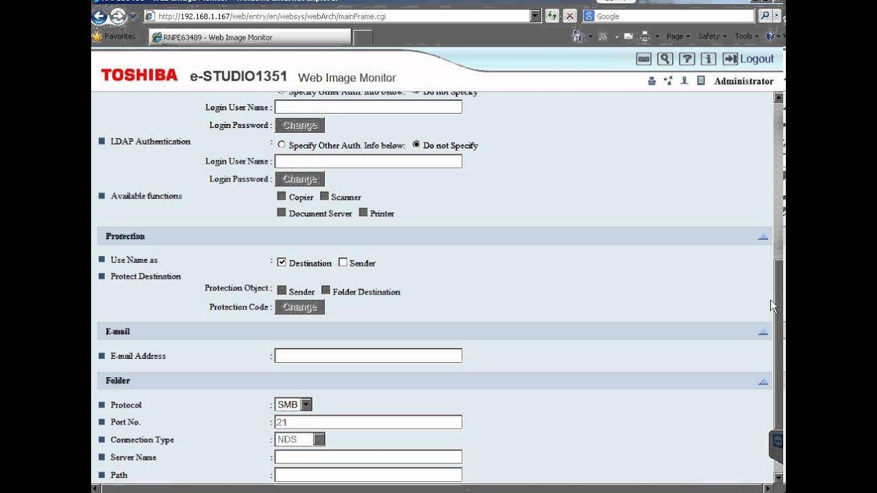 Scan Folder Toshiba 905 1105 1355