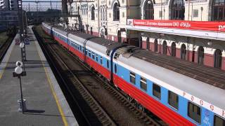 Trans-Siberian railways Train NO.1(RUSSIA) at Vladivostok Station (12.Oct.2013)