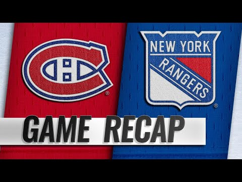 Rangers score four unanswered to rally past Canadiens