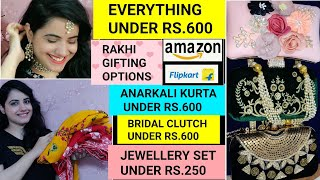 FLIPKART ANARKALI KURTAS UNDER Rs.500🌟AMAZON KURTAS UNDER Rs.500|AMAZON WEDDING JEWELLERY UNDER 250