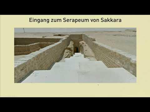 Das Serapeum von Sakkara in Ägypten