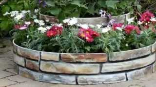 Grow Rings 2 Tier Instant Raised Bed Kit With Sandstone Design