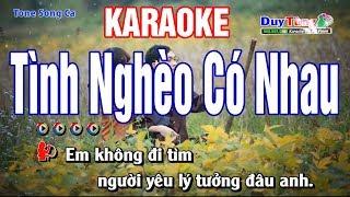Tình Nghèo Có Nhau karaoke Song Ca - Nhạc Sống Duy Tùng