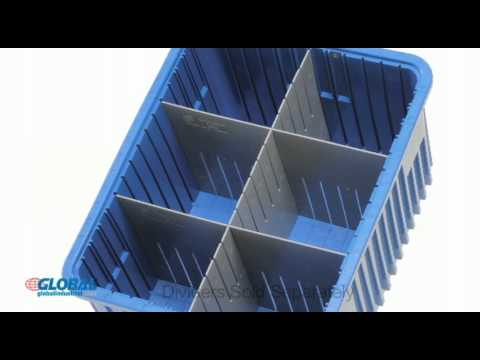 Globalindustrialcom Dividable Plastic Grid Boxes YouTube