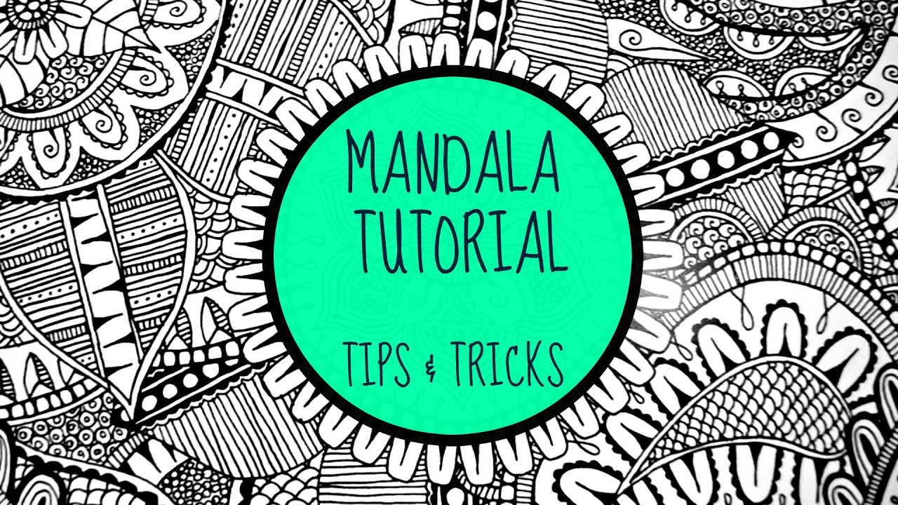 The Secret To Drawing A Mandala (Fancy Doodling) - YouTube