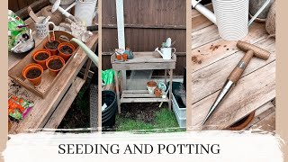 seeding and potting