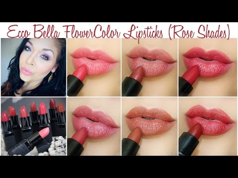 also ecco bella flowercolor lipsticks rose shades swatches youtube rh