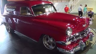 1954 Chevrolet Sedan Delivery Street Rod ScottieDTV Traveling Charity Road Show 2014