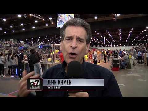 Dean Kamen & Don Bossi at Worlds Detroit | RoboZone TV