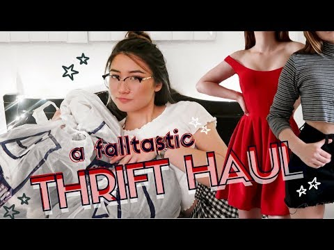 FALL TRY ON THRIFT HAUL (vintage Levi's + Goodwill Finds)