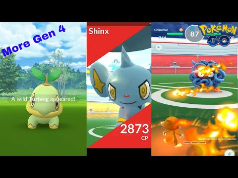 Pokemon Go Gen 4 Catching Sinnoh Pokemon, Shinx Raid, Gen 4 Gym Battle!