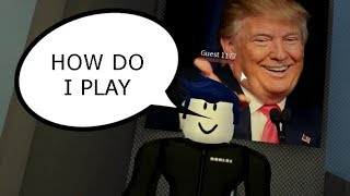 IRL FRIEND PLAYS FOR HIS FIRST TIME IN ROBLOX