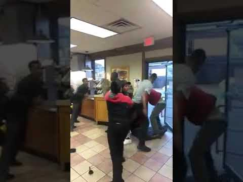 Fight at a Wendy's in Milwaukee, Wisconsin