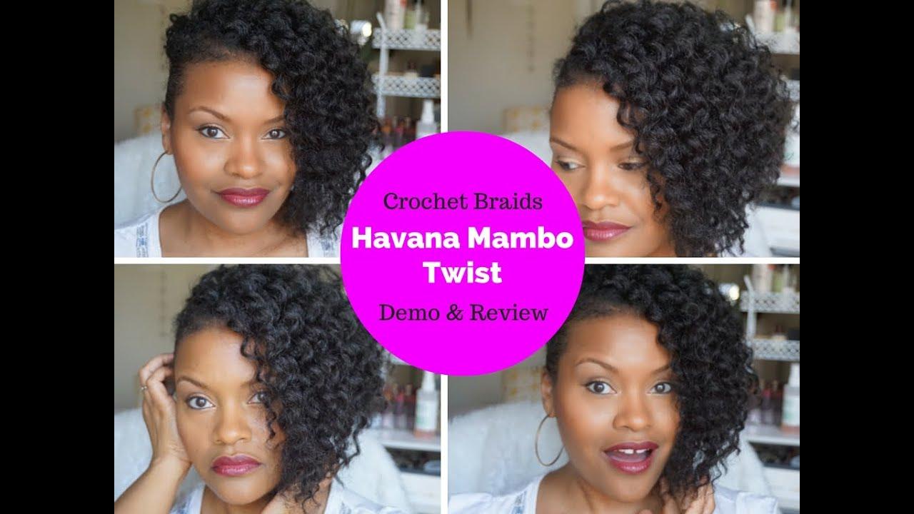 Easy Crochet Braids Faux Hawk Demo Havana Mambo Twist