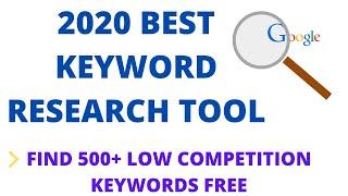 Free Keyword Research Tool   Best SEO Keyword Generator 2020