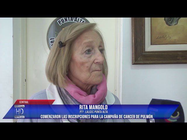 Rita Mangold  inscripciones para la campaña de cancer de pulmón