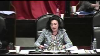 Dip Beatriz Zavala Peniche minuto de silencio 09 12 2014