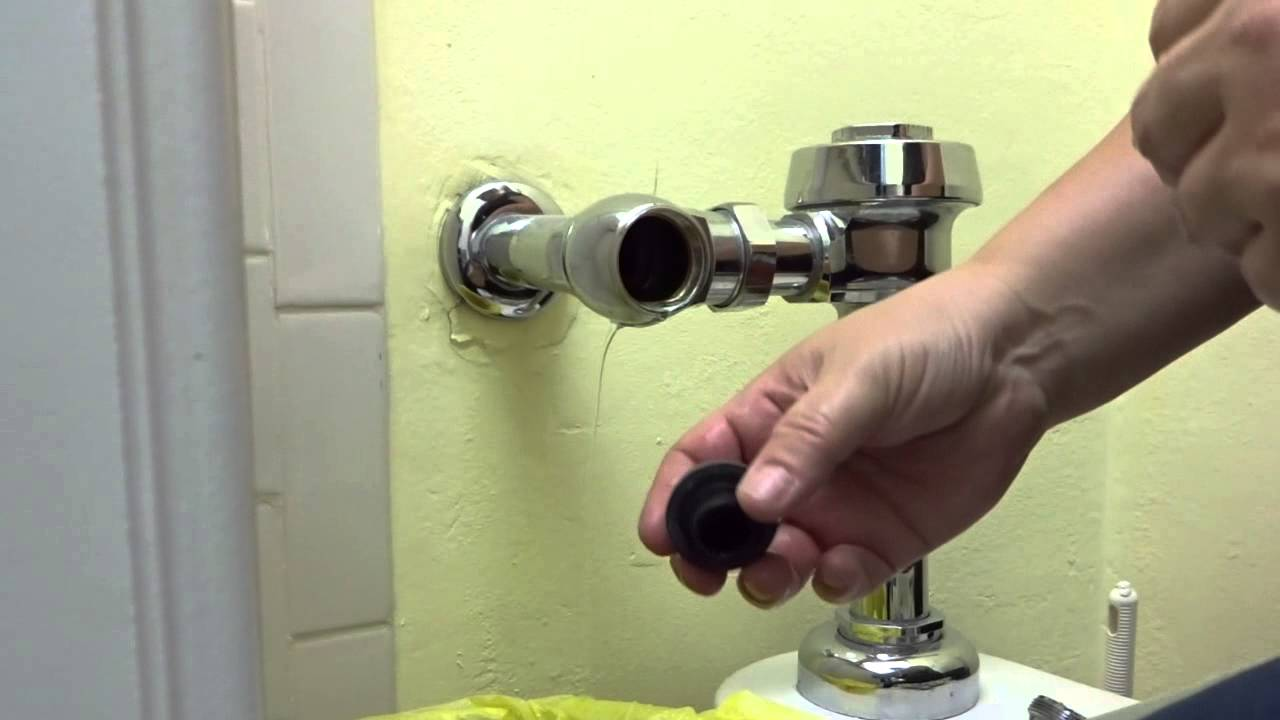 Fix running water using a sloan control stop valve - YouTube