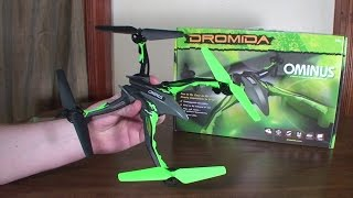 Dromida - Ominus - Detailed Review and Flight (Indoors and Outdoors)