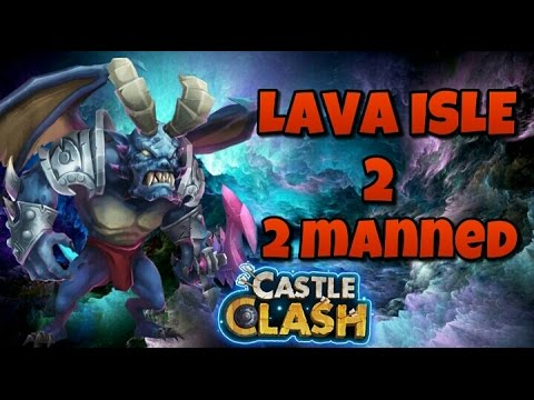 Castle Clash Lava Isle 2!! 2 Manned!