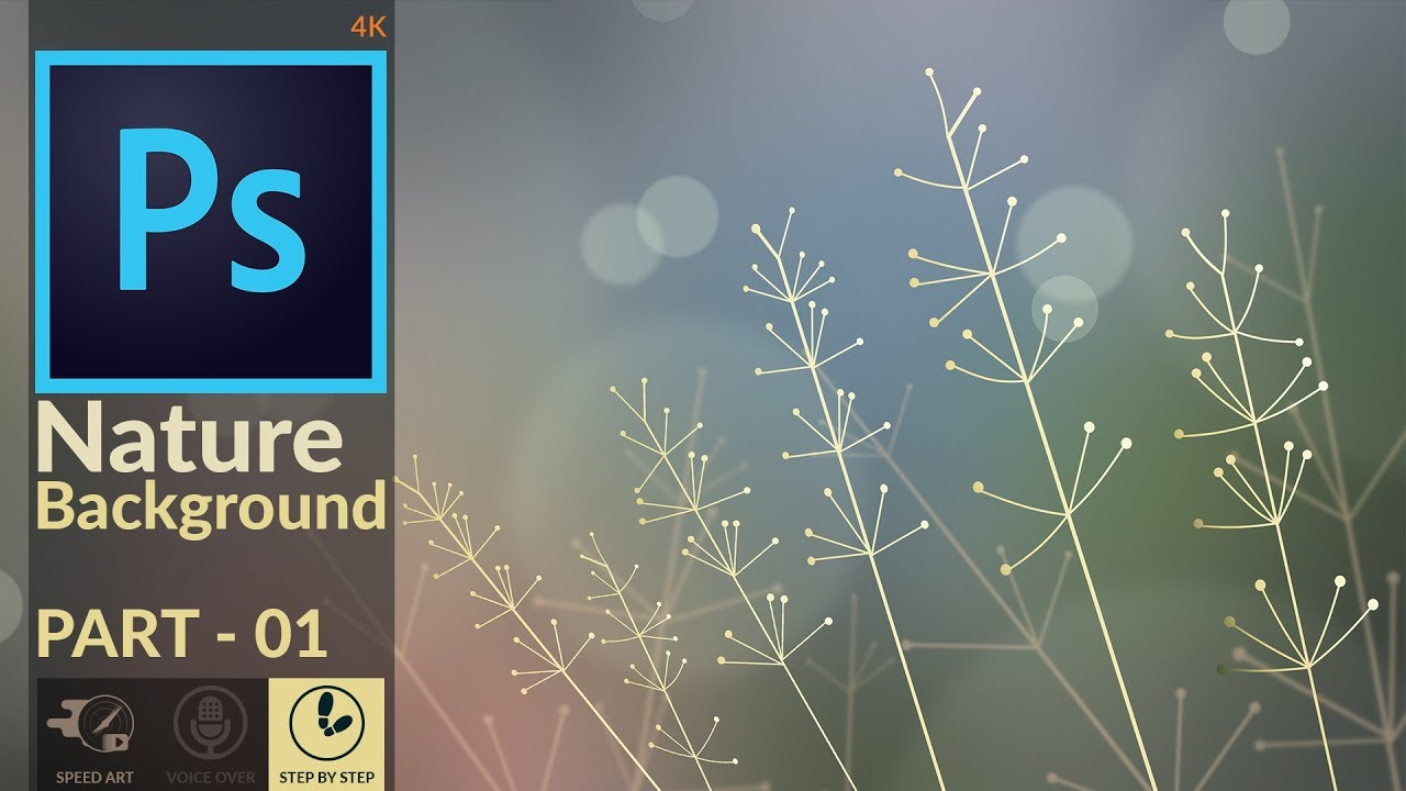 Photo-Realistic Background image design in Photoshop   Nature  Macro-Photography BG   PART 01