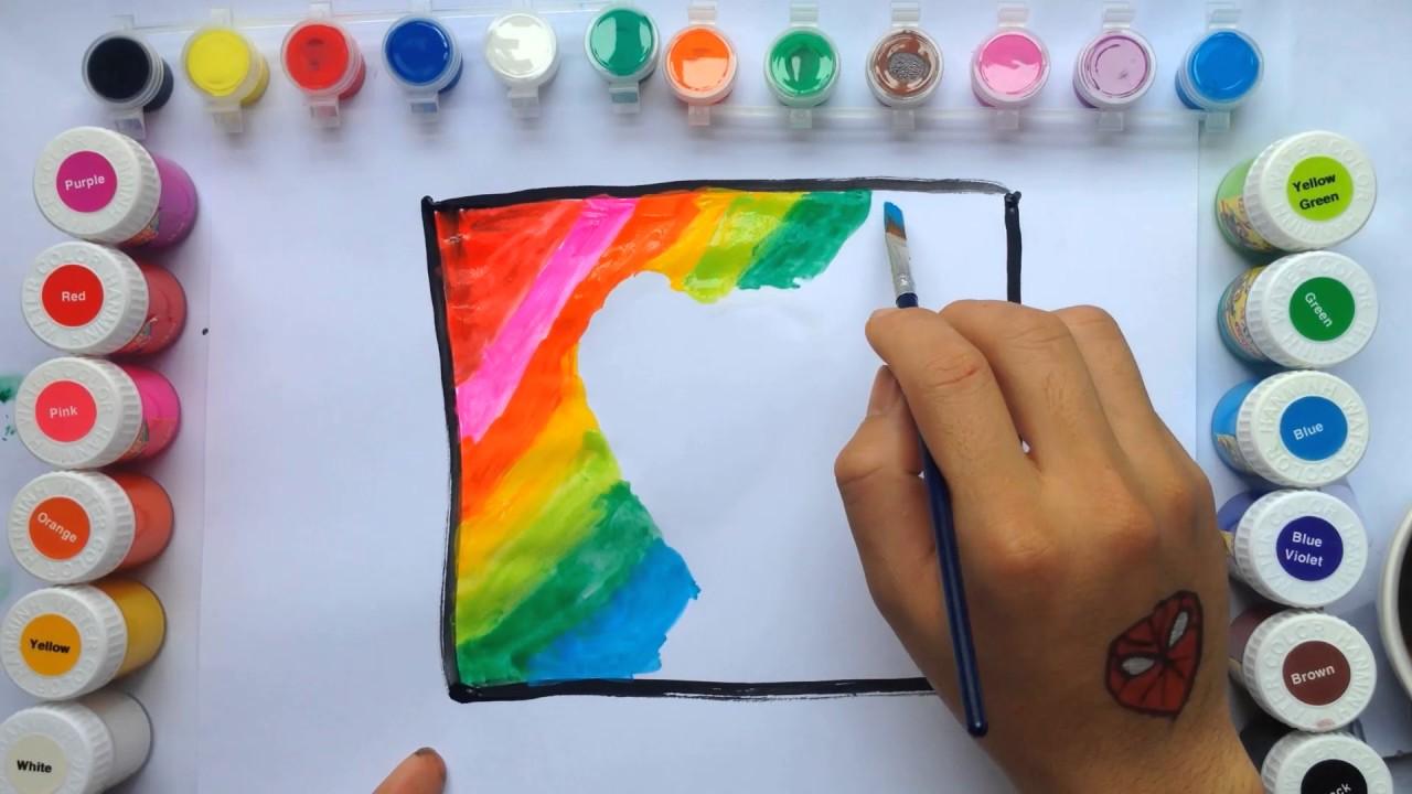 Hướng dẫn vẽ và tô màu trái tim bằng màu nước    Bé Tập Tô Màu