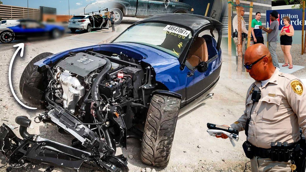 Wild Driver Destroys Rental Car Minutes After Pick Up