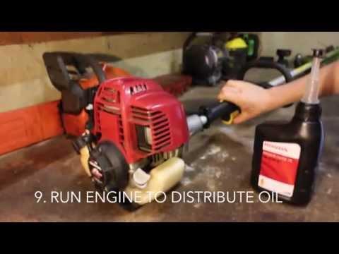 Honda UMK425U Oil Change How To Change Oil Honda UMK425 4 Stroke GX 25