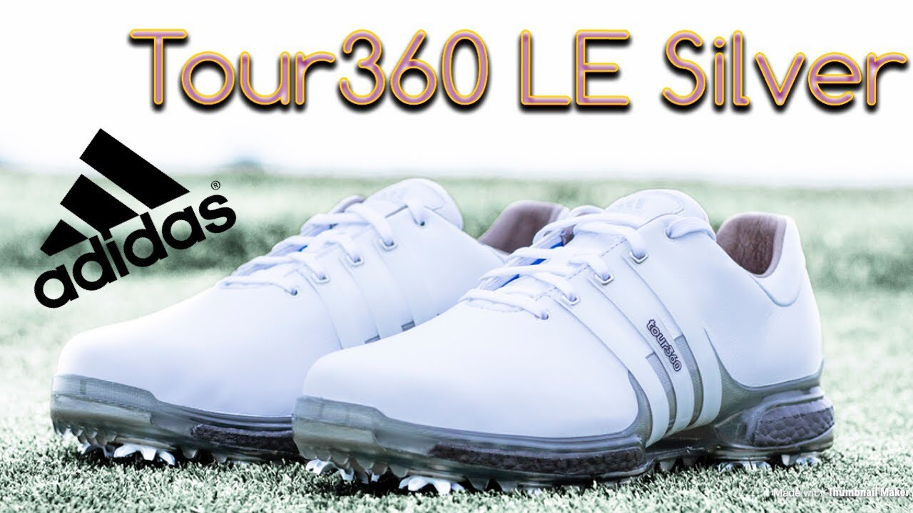 Adidas Tour 360 vs Tour 360 Knit Limited Edition Silver Boost Golf Shoes  fd6fa069c