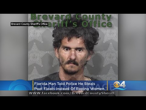 Florida Man Steals Pool Floats For Sex 'Instead Of Raping Women,'