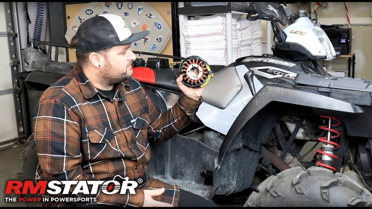 how to install a stator on a polaris sportsman 700 efi twin rmstator rm01057 [ 1280 x 720 Pixel ]