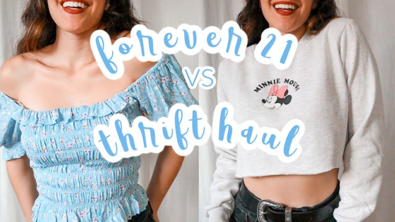 $100 Forever 21 vs Thrift // Try-On Haul