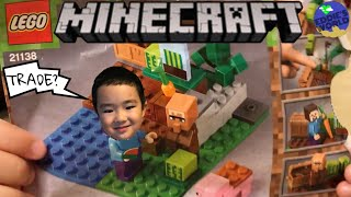 Lego Minecraft The Melon Farm 21138 Build And Review Funny Video For Kids