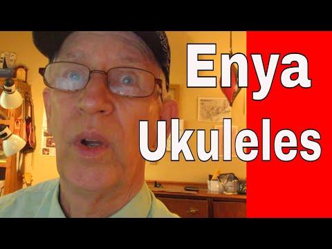 Enya Pineapple Soprano Ukulele EUP-70 and Enya OMS 04 Concert Ukulele.