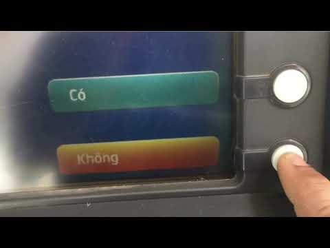 Cách rút thẻ Sacombank trên trụ Kiên Long và Vietcombank | Foci