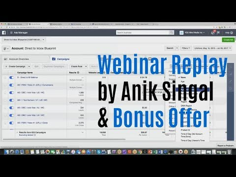 FB Academy Review Webinar Replay Bonus - How To Become An Expert At Facebook Ads 2017